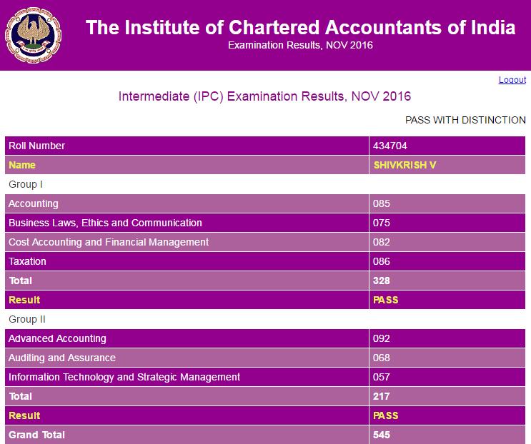 CA IPCC Nov 2016 Topper 3