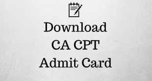 CA CPT Admit Card Dec 2017 icai.nic.in