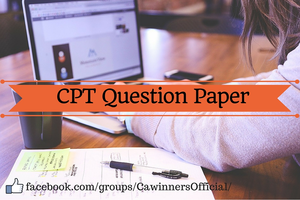 CPT Question Paper Dec 2015 with Answer Key