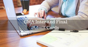 CMA Admit Card Dec 2017 For CMA Inter and CMA Final Exams