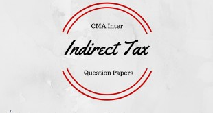 ICWAI Inter Indirect Tax Question Paper Dec 2015
