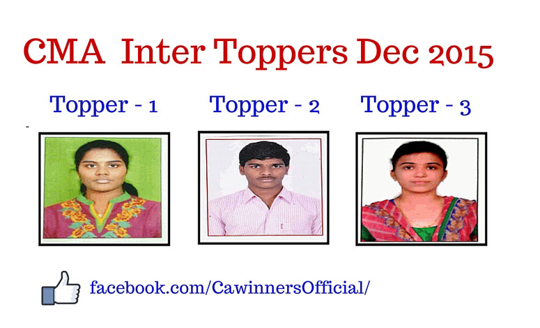 CMA Inter Toppers Dec 2015