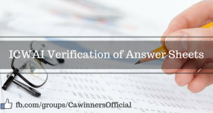 ICWAI Verification of Answer Sheets June 2016 | Inter Final