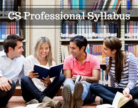 CS Professional Syllabus For June 2016 | Download PDF