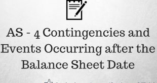 AS 4 Contingencies & Events Occurring after the Balance Sheet Date