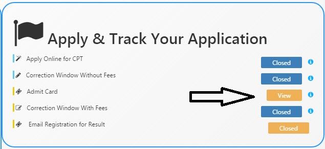 Download CA Admit Card