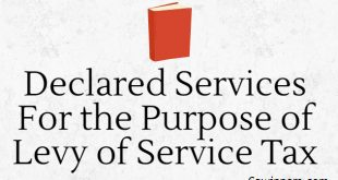 Declared Services For the Purpose of Levy of Service Tax