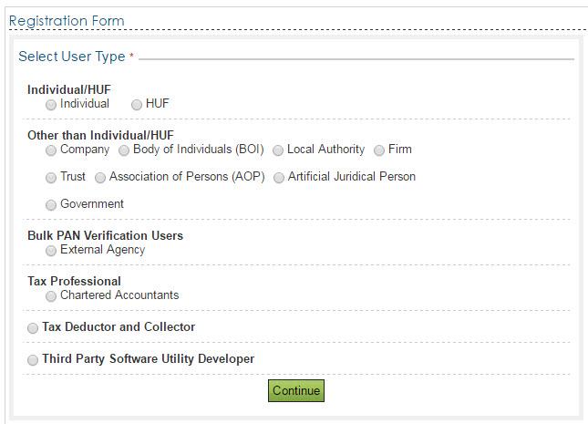 E Filing Registration Step 2