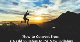 Convert From CA old syllabus to CA new syllabus