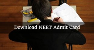 NEET Admit Card 2018